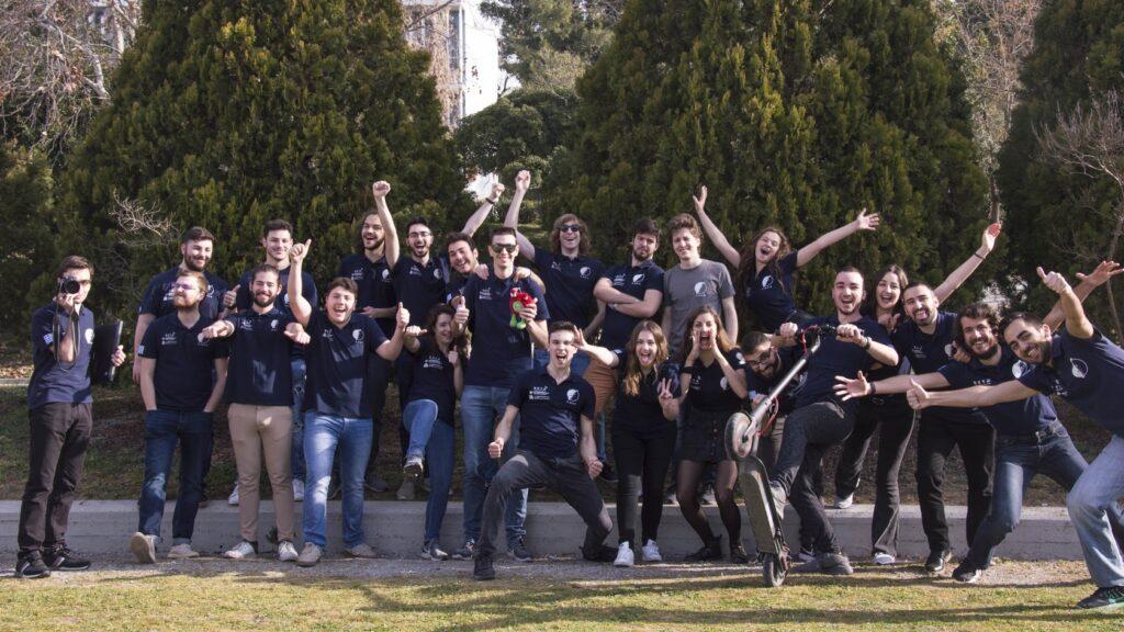 AcubeSAT team crazy photo